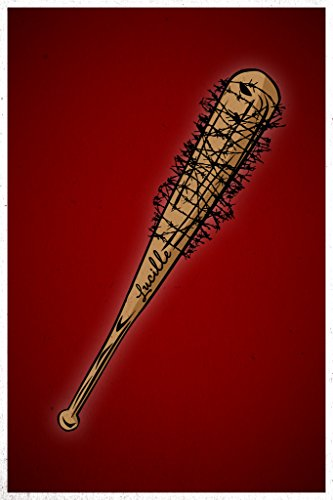 Lucille Barbed Wire Baseball Bat TV Show Poster (Baseball Bat With Barbed Wire)