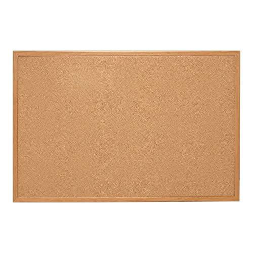 - Staples 1682316 Standard Cork Bulletin Board Oak Finish Frame 3'W X 2'H
