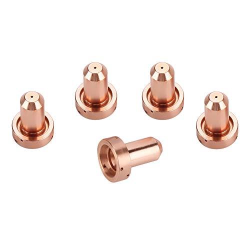 materiali di consumo al plasma 5 punte per ugelli 9-8207 per torcia al plasma SL60//100 5 elettrodi 9-8215 Punta per elettrodo al plasma