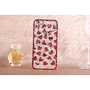 QHY Bright Tin Foil Design Love PC Pattern Hard Case for iPhone 6
