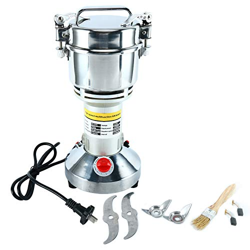 HYDDNice 350g Grain Mill Grinder High Speed 1500W 70-300 Mesh 28000RPM Electric Stainless Steel Grinder Spice Herb Cereals Corn Flour Powder Machine Commercial Grade