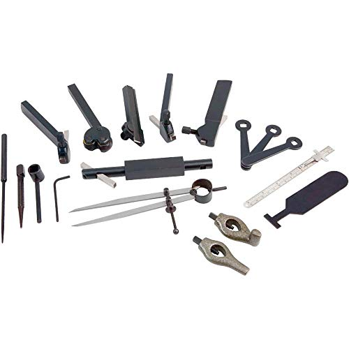 Great Deal! Grizzly Industrial H5868 - Lathe Tool Kit for Rocker Style Tool Post, 20 Pc.
