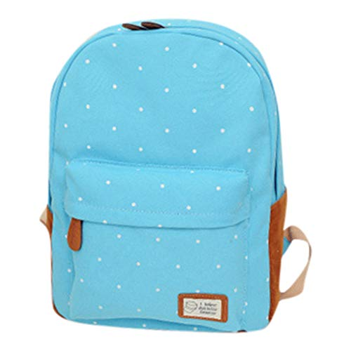 CCFAMILY Woman 2019 New Fashion Wave Point Backpack Student School Bag Travel Backpack