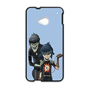 HTC One M7 Cell Phone Case Black_Gorillaz Noodle And Murdoc Vpnlb