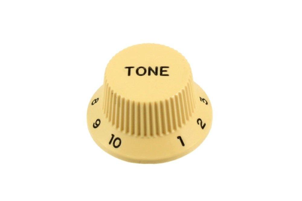 2 Tone Knobs Cream for Strat fits US Split Shaft Pots Allparts PK-0153-028