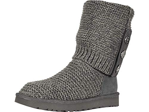 UGG Women's W Purl Cardy Knit Fashion Boot, Charcoal, 5 M US ()