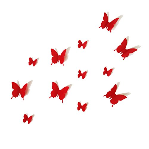 Red Butterfly Wall Stickers Art Decal Butterflies Home DIY Decor