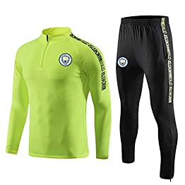 Costume manches longues football masculin, football Vêtements de sport for les enfants adultes Manchester City Maillots personnalisés Veste de survêtement Costume Aspect équipe Automne Costume uniform