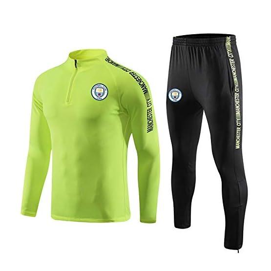Costume manches longues football masculin, football Vêtements de sport for les enfants adultes Manchester City Maillots personnalisés Veste de survêtement Costume Aspect équipe Automne Costume uniform