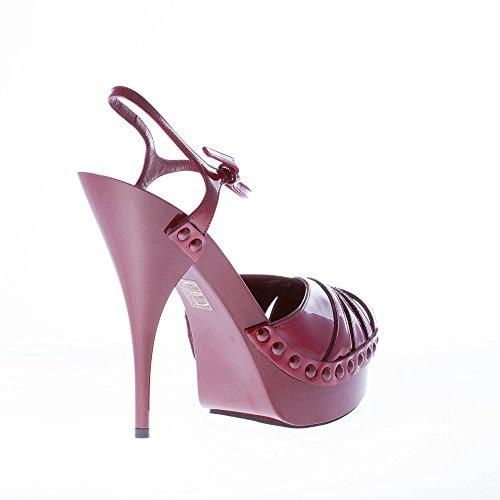 Bordeaux Women Shoes Sandal Ankle Strap Miu Patent Bordeaux Miu Leather Platform with qFtw567ff