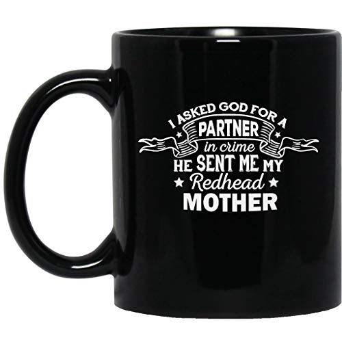I Asked God For A Best Parnter In Crime My Tattoo Mother Funny Gifts Idea Black Mug