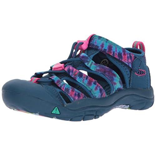 Keen Sandals Youth Big Kid Newport H2 Ribbon Black//Brown Size 3 Waterproof Sport