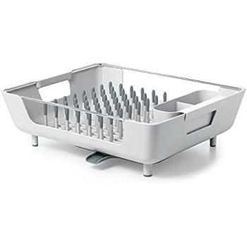 OXO Good Grips Large Peg Dish Rack with Adjustable Drain Tray  sc 1 st  Amazon.com & Amazon.com: Umbra Tub Dish Drying Rack Smoke: Home \u0026 Kitchen