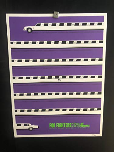 (Foo Fighters Chicago Metro 8/6/11 RARE Secret Show Concert Poster, Lollapalooza, Wasting Light, White Limo, Signed/Numbered 677/800, Nixon, Dave Grohl, Joy)