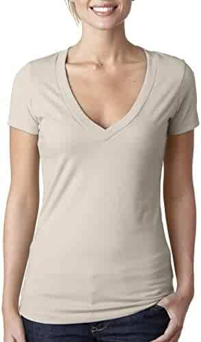 Next Level Apparel Women's CVC Deep V-Neck T-Shirt