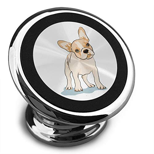 Magnetic Car Phone Holder French Bulldog 360° Adjustable Dashboard Mobile Phone Holder for All iPhone Samsung Galaxy and Most Smartphones