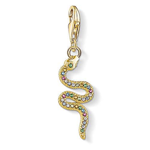 Thomas Sabo Charm Club Thomas Sabo Multicoloured Gold Snake Charm 1813-488-7