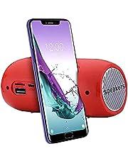 junmo shop Draagbare draadloze BT-luidspreker, stereogeluid SD-kaart FM-luidspreker met FM-radio, Micro SD-kaartsleuf voor thuis, feest, camping, reizen, strand, douche voor smartphone tablet pc