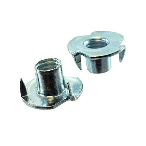 (Pack of 12) 1/2''-13 Stainless Steel Pronged Tee Nuts by IM Vera