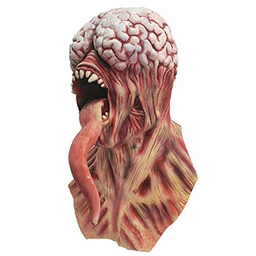 Monster Mud Halloween Props (lehaha Novelty Toys, Brain Long Tongue Monster Horror Devil Zombie Mask Adult Scary Halloween)