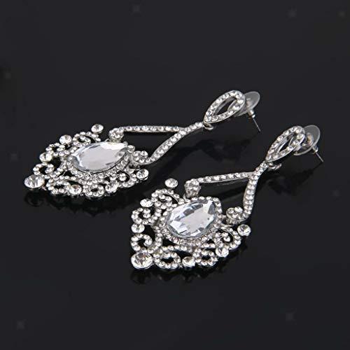 Crystal Lizard Dangle - Luxury Style Bridal Prom Wedding Crystal Rhinestone Stud Drop Dangle Earrings Necklace Jewelry Crafting Key Chain Bracelet Pendants Accessories Best| Color - Clear Chandelier Earrings