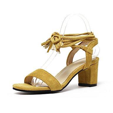 KYDJ @ Mujer-Tacón Robusto-Gladiador-Sandalias-Exterior Vestido Informal-Semicuero beige