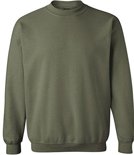 (Joe's USA - Soft & Cozy Crewneck Sweatshirts, L Military)