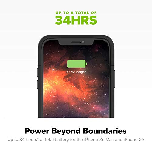Mophie Juice Pack Air - Mfi Certified - Wireless Charging - Protective Battery Pack Case for Apple iPhone XR – Black (401002404)