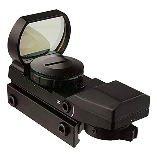 Tactical Green and Red Dot Sight - 4 Reticles Reflex Sight with Built-in Weaver-Picatinny Rail Mount for 22mm Rail Base - Water Resistant Shockproof & Lightweight with Adjustable Brightness