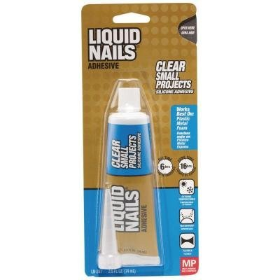(Liquid Nails Clear Small Projects Voc Silicone Adhesive 2.5 Oz by Macco)