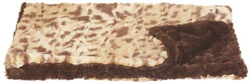 (The Dog Squad Minkie Binkie Pet Blanket, Small, Crush Brown Leopard)