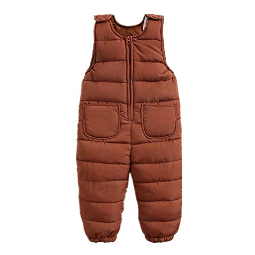 d7ac41726fdbc Beide Baby Boys Girls Unisex Snow Pants One Piece Winter Romper Jumpsuit  Sleeveless (Brown