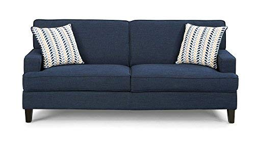 Coaster Home Furnishings Finley Sofa with Track Arms Blue