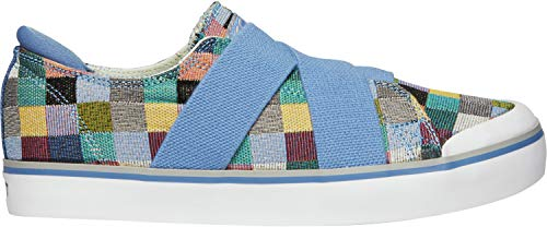 KEEN - Women's Elsa III Gore Slip-On Canvas Sneaker for Casual Everyday Use, Multi/Quiet Harbor, 10 M US