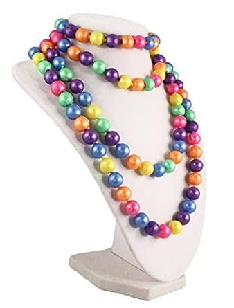 Rainbow Pop Beads - Fun 50s Retro Jewelry Crafting by Hey Viv !