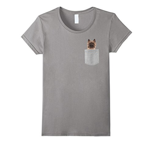 Womens Dog in Your Pocket Cairn Terrier t shirt shirt Small - Cairns In Shops