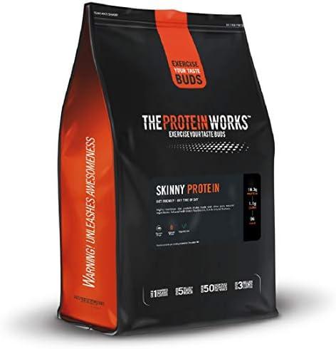 Skinny Protein / VANILLE CREME / von THE PROTEIN WORKS / 1kg / Nur 96 Kalorien und unter 1g Zucker in jedem Shake