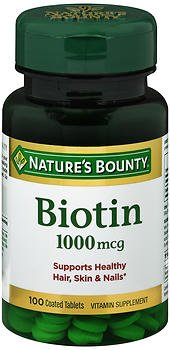 Nature's Bounty Biotin 1000 mcg Tablets - 100 ct, Pack of 6 by Nature's Bounty