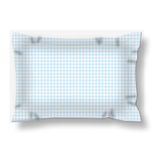 Gingham Standard Sham - Baby Blue Gingham Custom Pillow Sham | King & Queen Bedding Shams | Cottage Chic Bedding Set | Summer at the Lake Bedding Set | New Home