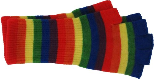 Fingerless Knit Gloves -...