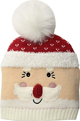 Kids Beanie Red (San Diego Hat Company Kids Unisex Knit Santa Beanie w/Faux Fur Pom (Little Kids/Big Kids) Red 5-7 Years)