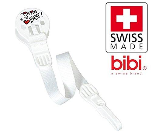 Bibi Swiss Papa Is The Best nº 100261 - 1 x Chupete Cadenas ...