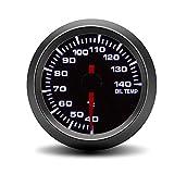 ZJP-Car Instruments Medidor de Temperatura de Aceite automático de 52MM 40-140C Medidor de Temperatura de Aceite de luz Blanca Medidor de Coche con Sensor Dispositivo Sensor