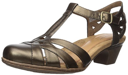 - Rockport Women's Aubrey Heeled Sandal, Bronze, 9 W US