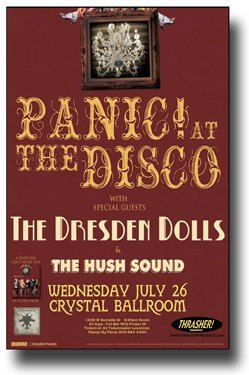 Panic at The Disco Poster - with Dresden Dolls A Fever You Can't Sweat
