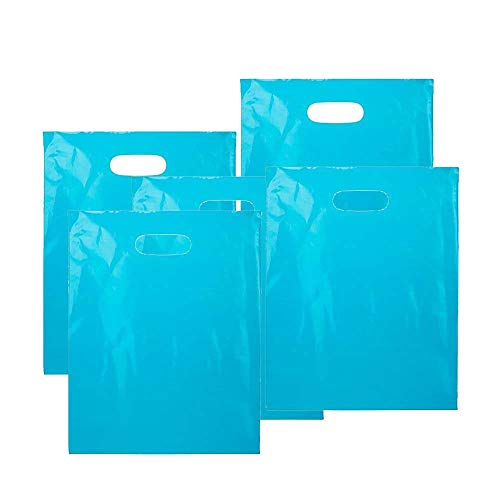 Treat/Goody Plastic Bags ~ Party Favor (Package of 50) (Blue)]()