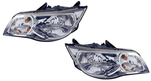 2004 Saturn Ion Coupe - Saturn Ion Coupe Replacement Headlight Assembly - 1-Pair