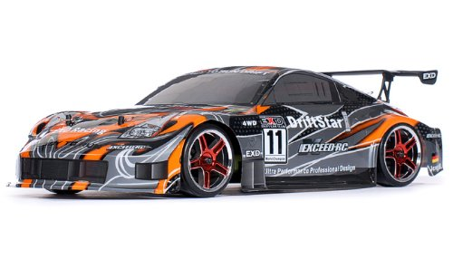 Exceed RC 2.4Ghz Brushless Version Drift Star Electric Powered RTR Remote Control Drift Racing Car 350 Orange Style