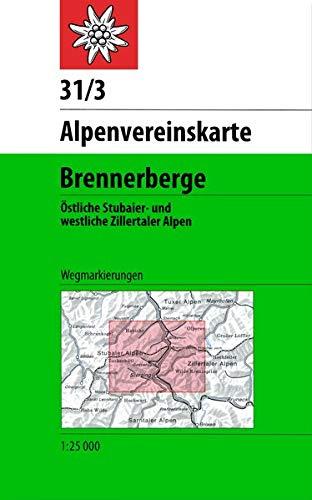 Brennerberge: Östliche Stubaier- und westliche Zillertaler Alpen - Wegmarkierungen (Alpenvereinskarten)