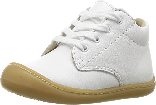 FOOTMATES Baby Reagan Soft Laceup First Walker (Infant/Toddler) White Nappa